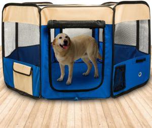 BIGWING Style Hundehütte, Welpenauslauf, Laufstall für Hunde, Wasserdichtes Zelt für Hunde, diverse Farben & Größen
