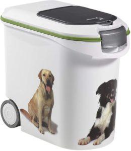 Curver Futter-Container mit Rollen, Futterbehälter 12 kg