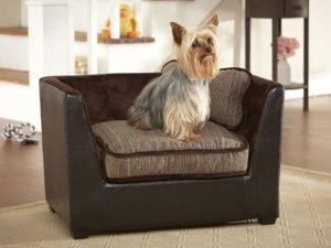 Elegante Mini Hundecouch, dickes Kuschelkissen, waschbar, für kleine Hunde