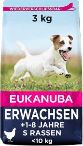 Eukanuba Hundefutter mit frischem Huhn für kleine Rassen