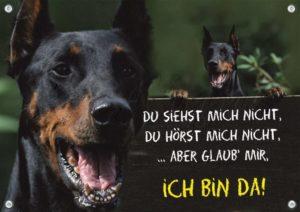 Hundeschild Dobermann