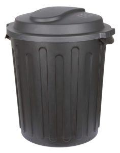 Kerbl Futtertonne XXL mit Deckel, 60 L, schwarz