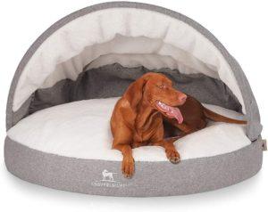 Knuffelwuff Höhlenbett,Hundehöhle mit kuscheliger Liegefläche Ø 100cm