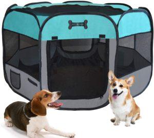 MC Star Oxford Welpenauslauf faltbar für Hunde für innern oder außen, 125 x 125 x 64cm-verschiedene Farben