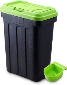Maelson Dry Box Vorratsbehälter für Trockenfutter, 15 kg, schwarz-grün