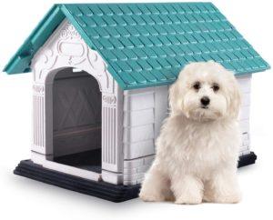 Nobleza - Hundehütte Kunststoff, wasserdicht für drinnen und draußen