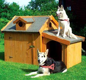 PROMADINO Hundehütte MAX mit Anbau 176x118x112cm isoliert imprägniert