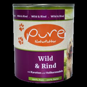 PURE-Naturfutter Wild & Rind mit Karotten und Vollkornnudeln