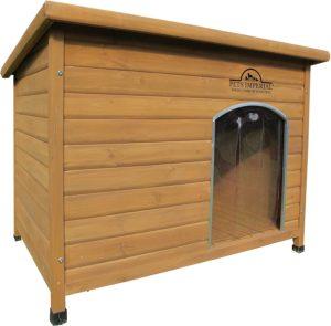 Pets Imperial® Isolierte Hundehütte Extra Large, Holz, einfache Reinigung