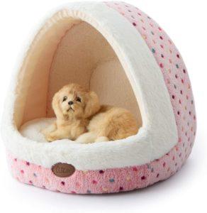 Tofern Hundebett, Hundehöhle, weich warm waschbar für kleine mittelgroße Hunde