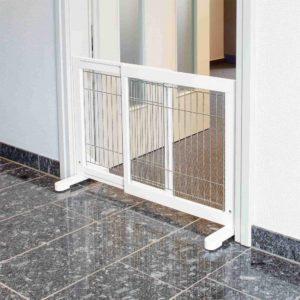 Trixie Hunde-Absperrgitter, Kiefernholz, 65–108 × 61 cm, weiß
