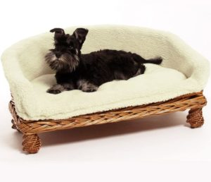 Weidenkorbsofa, waschbar, Hundecouch aus Rattan