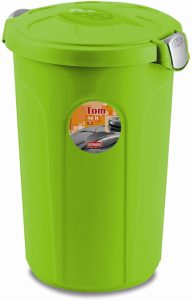 XL Tierfuttertonne, Hundefutter Container, Futtertonne, Kunststoff, 46 Liter, Grün