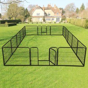 Yaheetech Welpenlaufstall, Hundezaun, Laufstall für Hunde,Outdoor & Indoor, verschiedene Größen