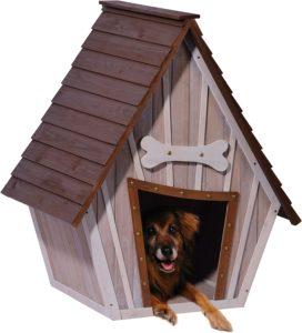 dobar Hundehütte, XL Outdoor Hundehaus mit Spitzdach für große Hunde