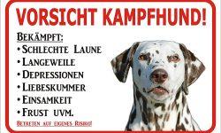 Dalmatiner-Hundeschild