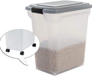 IRIS, luftdichte Futtertonne Futtercontainer Futterbehälter ATS, für Hundefutter, Kunststoff